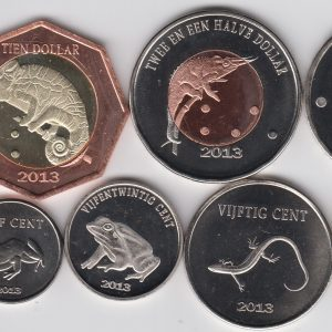 SABA lot 5x Set 9pcs 2013, unusual coinage