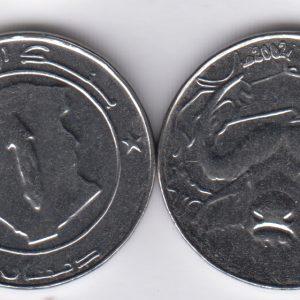 ALGERIA 1 Dinar 2002