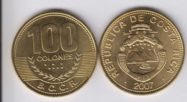 COSTA RICA 100 Colones 2007
