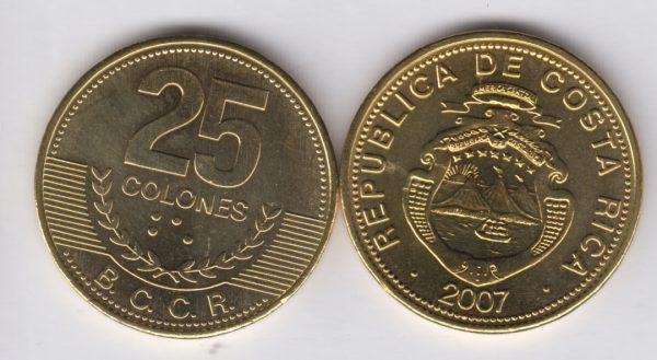 COSTA RICA 25 Colones 2007