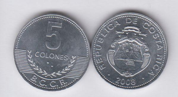 COSTA RICA 5 Colones 2008