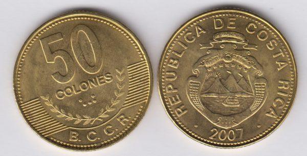 COSTA RICA 50 Colones 2007