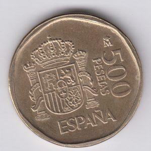 SPAIN ESPAÑA 500 Pesetas 1987