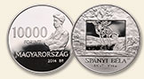 HUNGARY 10000 Forint 2014 silver Béla Spanyl Proof