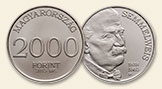 HUNGARY 2000 Forint 2015 Semmelweis