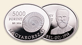HUNGARY 5000 Forint 2014 silver Robert Barany Proof