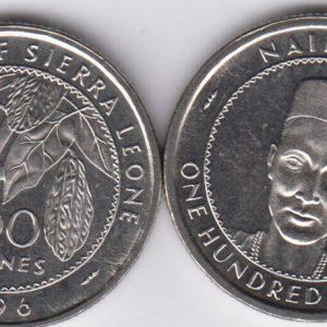 SIERRA LEONE 100 Leones 1996