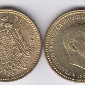 SPAIN ESPAÑA 1 Peseta 1966(71) Franco