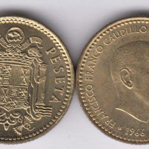 SPAIN ESPAÑA 1 Peseta 1966(72) Franco