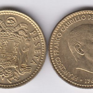 SPAIN ESPAÑA 1 Peseta 1966(75) Franco