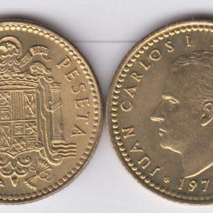 SPAIN ESPAÑA 1 Peseta 1975(77) Juan Carlos