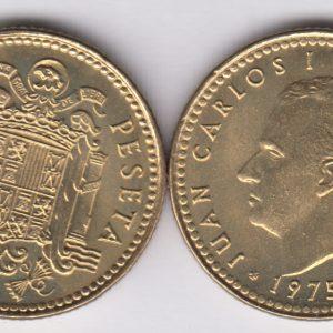 SPAIN ESPAÑA 1 Peseta 1975(78) Juan Carlos