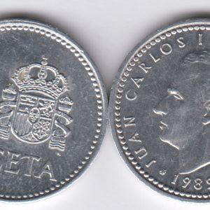 SPAIN ESPAÑA 1 Peseta 1989