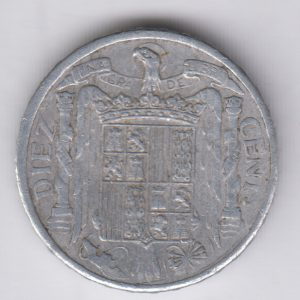 SPAIN ESPAÑA 10 Centimos 1941 VF/TTB
