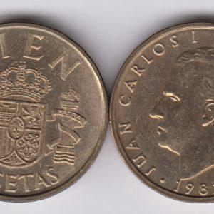 SPAIN ESPAÑA 100 Pesetas 1982