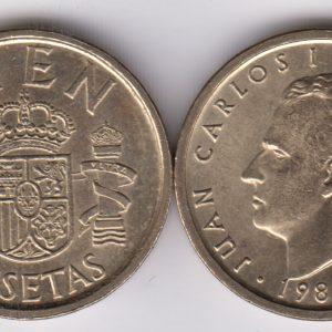 SPAIN ESPAÑA 100 Pesetas 1988
