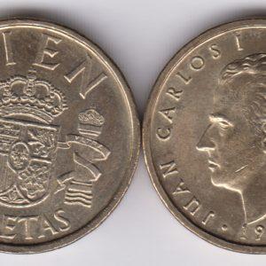 SPAIN ESPAÑA 100 Pesetas 1989