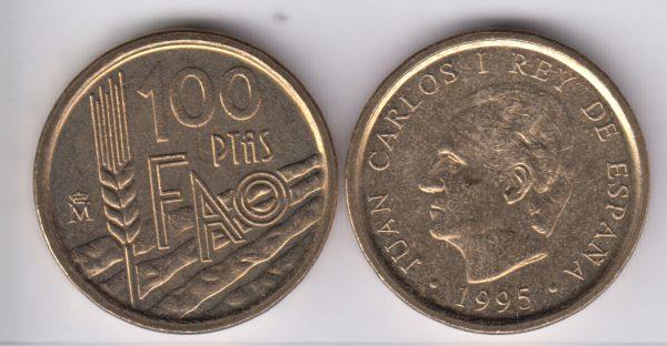 SPAIN ESPAÑA 100 Pesetas 1995 FAO