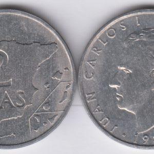 SPAIN ESPAÑA 2 Pesetas 1982