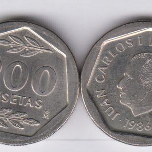 SPAIN ESPAÑA 200 Pesetas 1986