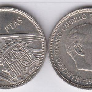 SPAIN ESPAÑA 5 Pesetas 1957(74)