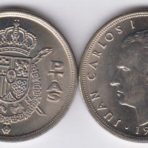 SPAIN ESPAÑA 5 Pesetas 1975(77)
