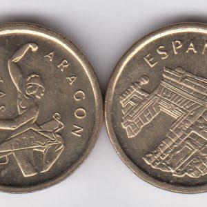 SPAIN ESPAÑA 5 Pesetas 1994 Aragon