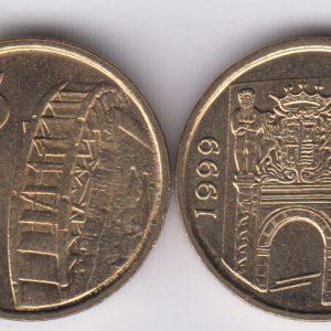 SPAIN ESPAÑA 5 Pesetas 1999 Murcia