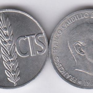 SPAIN ESPAÑA 50 Centimos 1966