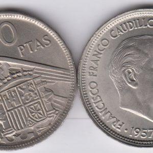 SPAIN ESPAÑA 50 Pesetas 1957(59)