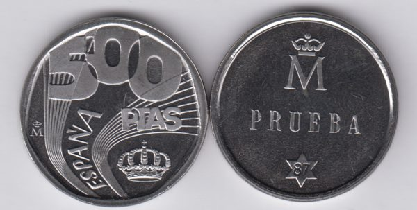 SPAIN ESPAÑA 500 Pesetas 1987 Prueba TS4