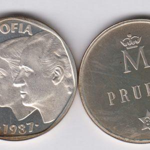 SPAIN ESPAÑA 500 Pesetas 1987 silver Prueba TS1