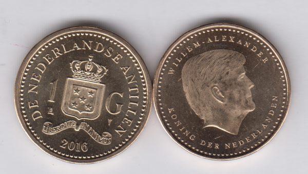 NETHERLANDS ANTILLES 1 Gulden 2016 new king Willem-Alexander