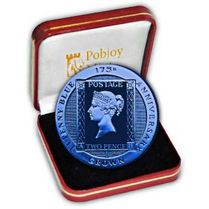 ASCENCION ISLAND Crown 2015 Tuppenny blue stamp