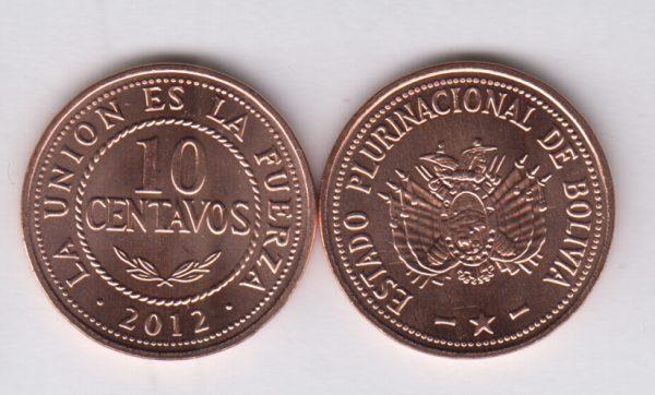 BOLIVIA 10 Centavos 2012