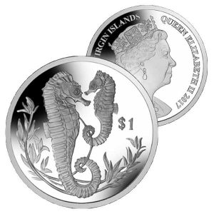 BRITISH VIRGIN ISLANDS $1 2017 Seahorse