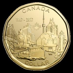 CANADA $1 2017 150th Anniversary 1867-2017