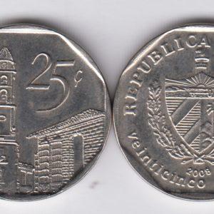 CUBA 25 Centavos 2008