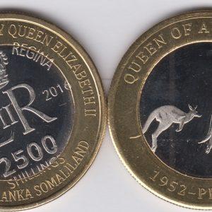 SOMALILAND 2500 Shillings 2016 Kangaroos, Australia