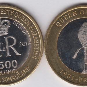 SOMALILAND 2500 Shillings 2016 Bird, Belize