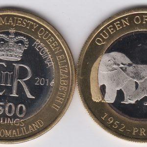 SOMALILAND 2500 Shillings 2016 Polar Bear, Canada