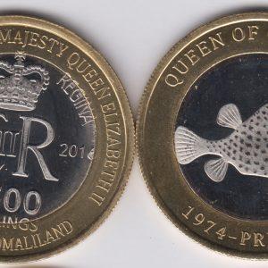 SOMALILAND 2500 Shillings 2016 Fish, Grenada