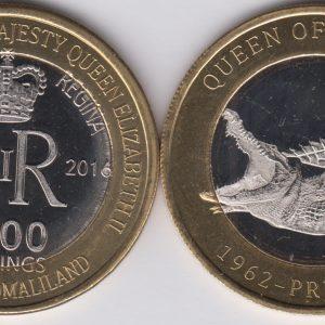 SOMALILAND 2500 Shillings 2016 Crocodile, Jamaica