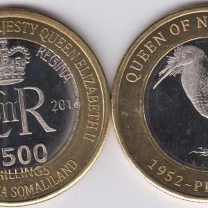SOMALILAND 2500 Shillings 2016 Kiwi, New Zealand