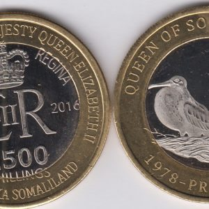 SOMALILAND 2500 Shillings 2016 Birds, Solomon islands