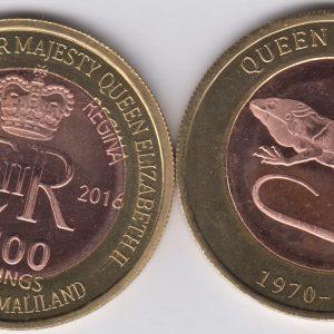 SOMALILAND 2500 Shillings 2016 Iguana, Fiji