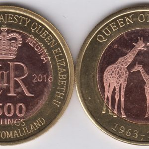 SOMALILAND 2500 Shillings 2016 Giraffes, Kenya