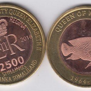 SOMALILAND 2500 Shillings 2016 Fish, Malawi