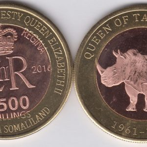 SOMALILAND 2500 Shillings 2016 Rhino, Tanganyika