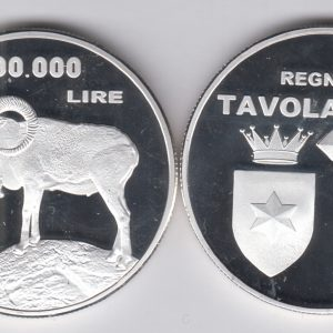 TAVOLARA 100000 Lire 2017 goat, unusual coinage